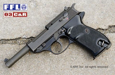 German Walther P1/P38 9mm Pistol