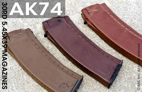 Bulgarian AK74 Rifle 30rd Magazine 5.45x39cal Brown