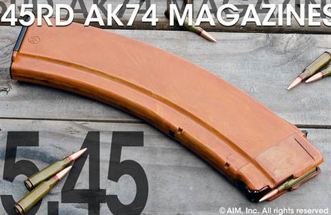 Surplus AK-74 or VEPR 5.45x39 45rd Rifle Magazine