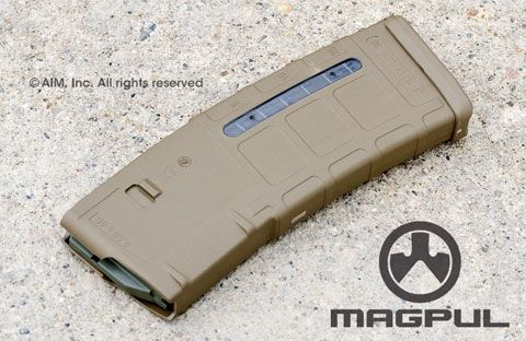 Magpul PMag GEN M2 MOE Window 30rd 5.56/.223 AR Magazine Flat Dark Earth