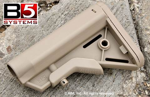 B5 Systems BRAVO SOPMOD Collapsible AR/M16 Rifle Stock Flat Dark Earth