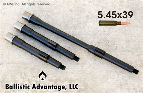 "Ballistic Advantage 5.45 7.5"" NFA/Pistol Barrel w/ Nitride Gas Block"