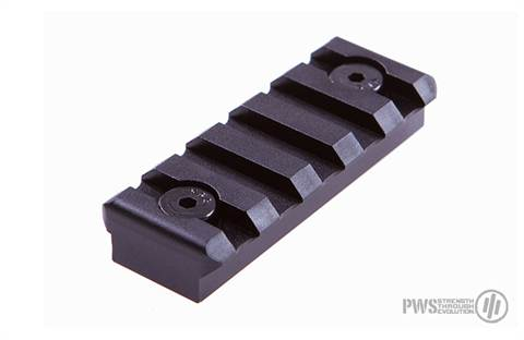 PWS KeyMod 5 Slot 6061 Aluminum Picatinny Rail Section,