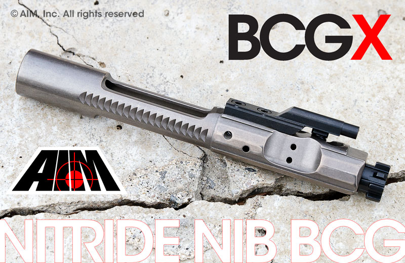 AIM AR/M16 BCG-X .223/5.56/.300BO 9310 MPI Nitride Bolt NiB Carrier Group