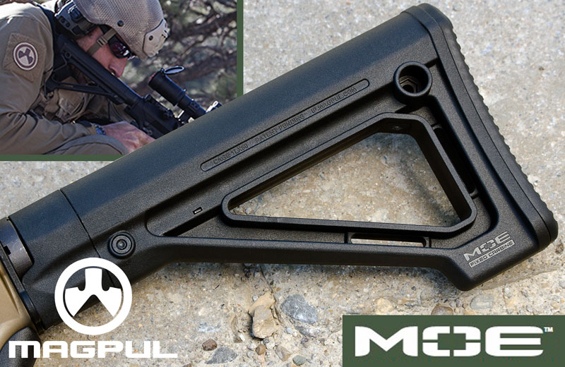 Magpul MOE Fixed Carbine Stock – Mil-Spec.